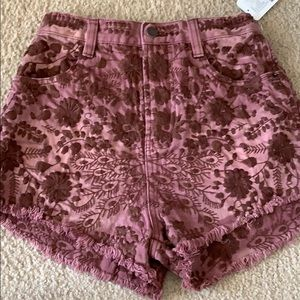 Free People stitched patterned shorts